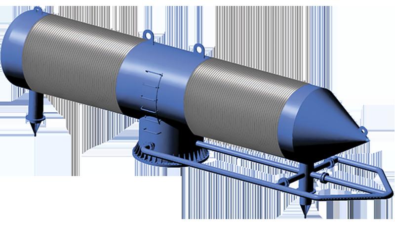Водозаборный фильтр с оголовком и системой шугозащиты
